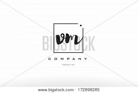 Vm V M Hand Writing Letter Company Logo Icon Design