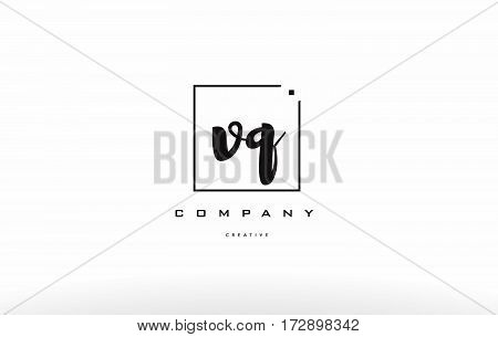 Vq V Q Hand Writing Letter Company Logo Icon Design