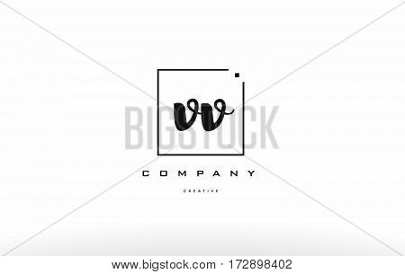 Vv V Hand Writing Letter Company Logo Icon Design
