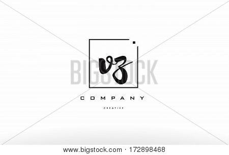 Vz V Z Hand Writing Letter Company Logo Icon Design