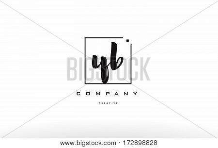 Yb Y B Hand Writing Letter Company Logo Icon Design