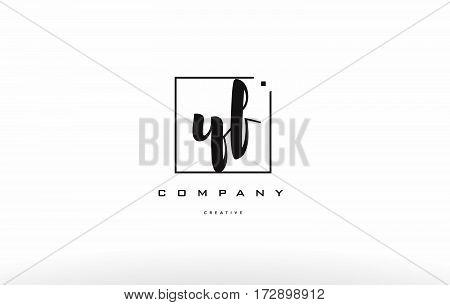 Yf Y F Hand Writing Letter Company Logo Icon Design