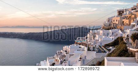 View Of Oia In Santorini Island