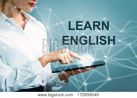 Learn English Text With Business Woman