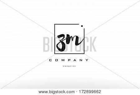 Zm Z M Hand Writing Letter Company Logo Icon Design