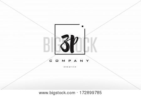 Zp Z P Hand Writing Letter Company Logo Icon Design