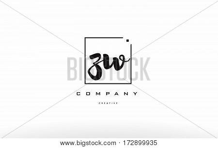 Zw Z W Hand Writing Letter Company Logo Icon Design