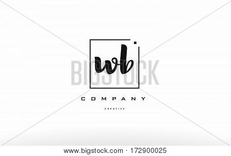 Wb W B Hand Writing Letter Company Logo Icon Design