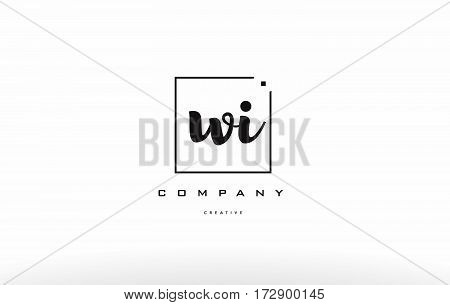 Wi W I Hand Writing Letter Company Logo Icon Design