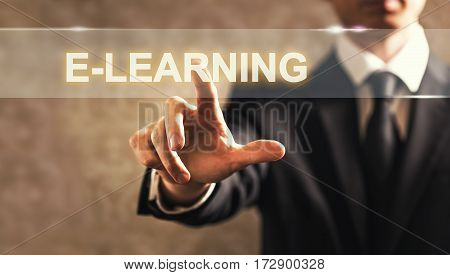 E-learning Text With Businessman