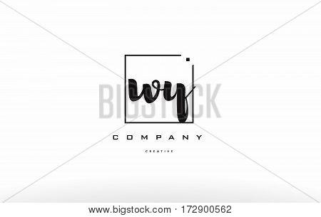 Wy W Y Hand Writing Letter Company Logo Icon Design