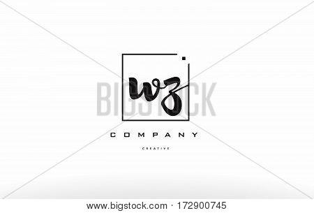 Wz W Z Hand Writing Letter Company Logo Icon Design