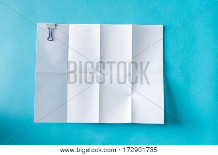 Blank Unfolded Creased Piece Of Paper