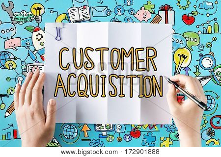 Customer Acquisition Text With Hands