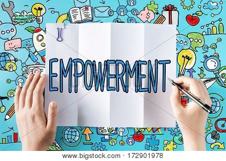 Empowerment Text With Hands