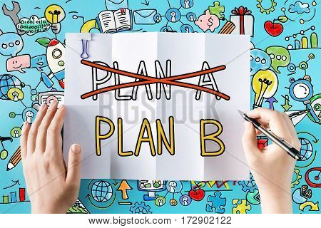 Plan B Text With Hands