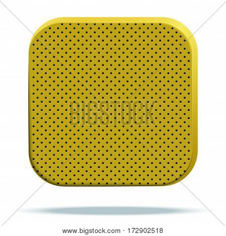 Icon of perforated material. Technical Demonstration of material with porous structure. Vector Illustration isolated on white background
