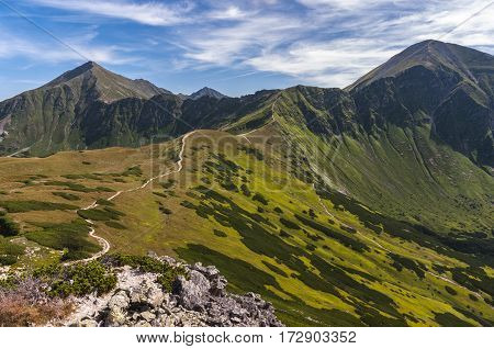 Summer mountain landscape in the Western Tatra Mountains