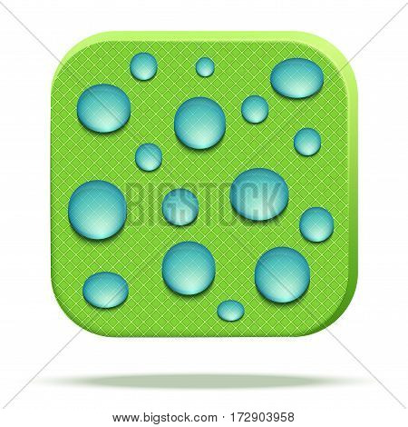 Icons of waterproof material. Reticulate fabric rip stop. Technical illustration Demonstration of Waterproof structure of material. Vector Illustration isolated on white background