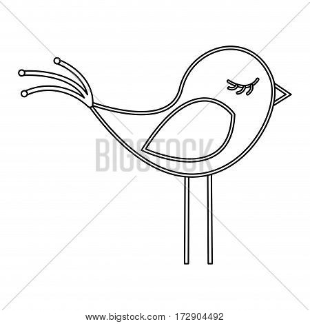 silhouette canary icon stock, vector illustration design image