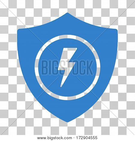 Electric Guard vector pictogram. Illustration style is flat iconic cobalt symbol on a transparent background.