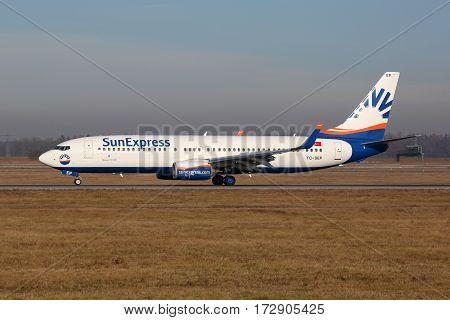 Sunexpress Boeing 737-800 Airplane Stuttgart Airport