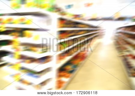 In Iran Abstract Supermarket Blurred