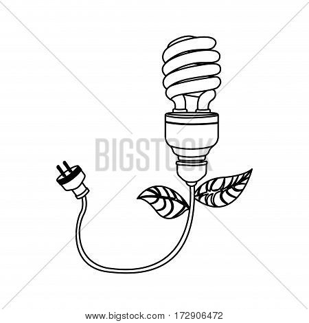 energy-saving bulbs with power cable icon, vector illustration design