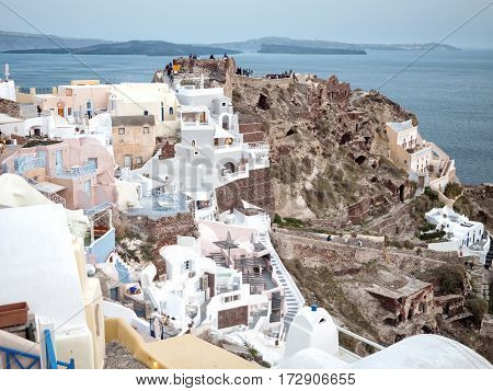 View Of Oia In Santorini Island