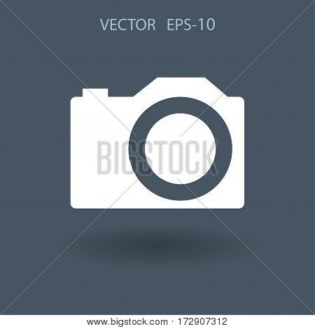 Flat icon of a camera. vector illustration