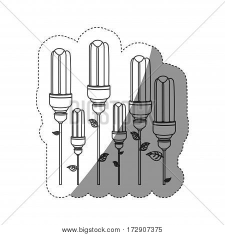 energy-saving light bulbs plant icon, vector illustration design