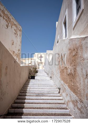Stairs In Santorini Island