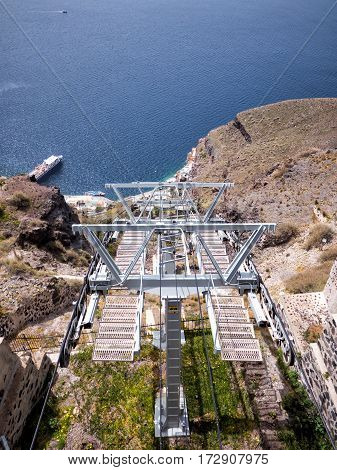The Cable Lift In Santorini