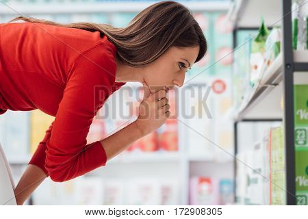 Woman Choosing Products