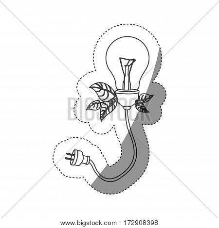 normal save bulbs with power cable icon, vector illustration design image