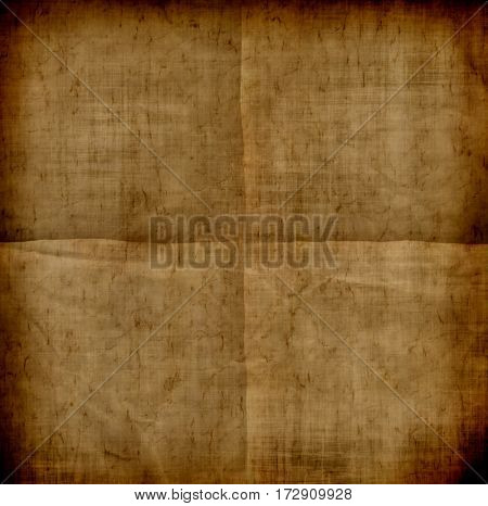 Grunge paper background with folds and creases