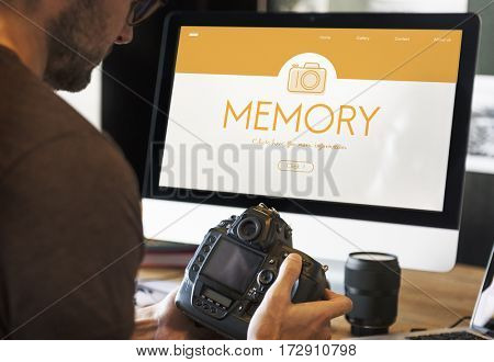 Photography Memory Hobby Graphic Word Icon