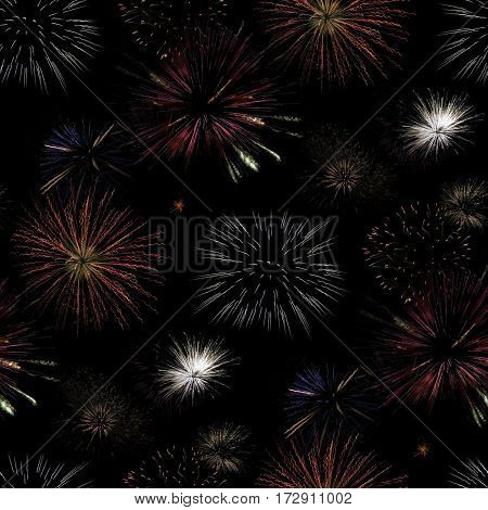 Fireworks Seamless Wrapping Paper Background
