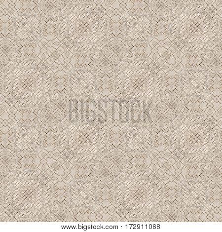 White Wicker Basket Seamless Pattern Background