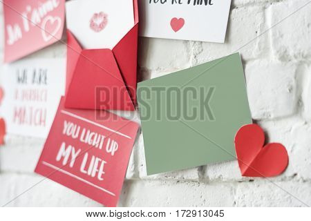 Love Letters Wall Red T'aime