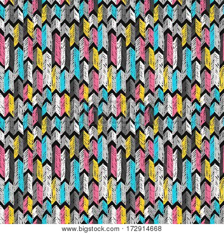 Sketch Arrows Pattern Doodle Tribal Ornament Colorful 1