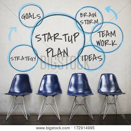 Start up plan ideas teamwork brainstorming