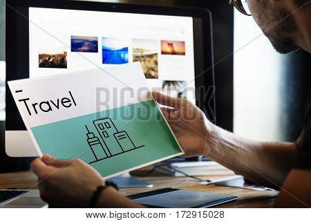 Holiday Destination Location Journey Icon
