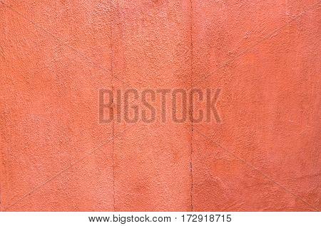 Close-up Orange Color Concrete Wall Background. Texture Background.
