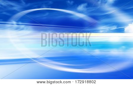 design of blue sky with blur lines