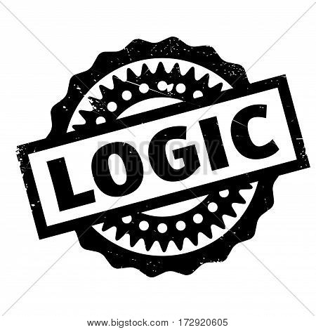 Logic rubber stamp. Grunge design with dust scratches. Effects can be easily removed for a clean, crisp look. Color is easily changed.
