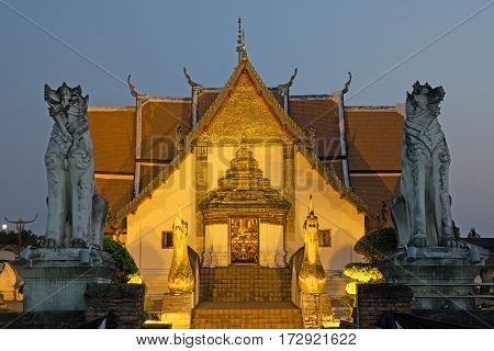 Wat Phumin is an old and famous temple in Nan Thailand