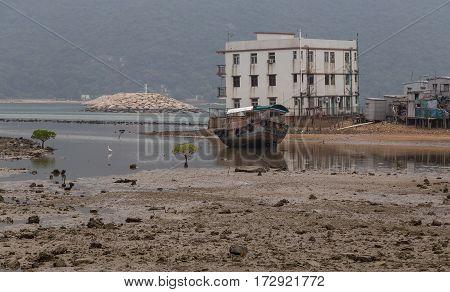 View Of Tai O Lantau Island Hong Kong