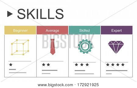 Career Skills Progress Graphic Icon Symbol