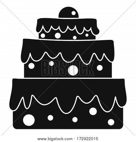 Big cake icon. Simple illustration of big cake vector icon for web